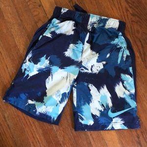 Blue & White Nike Athletic Shorts Dri-Fi Medium